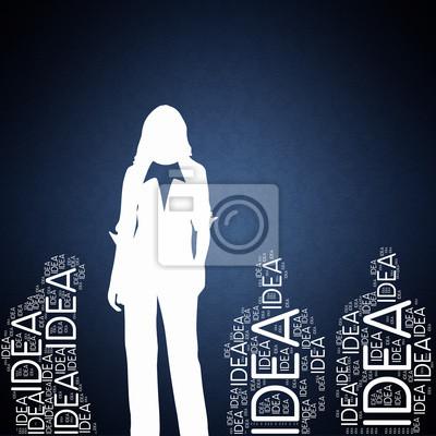 Bild Idea - Concept Wallpaper mit Frau Silhouette