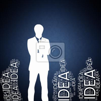 Bild Idea - concept wallpaper with man silhouette