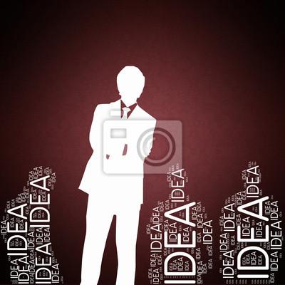 Bild Idea - Konzept Tapete mit Mann Silhouette