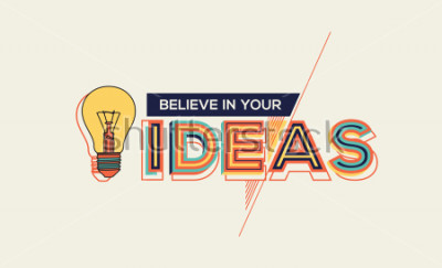 Bild Idee. Moderner Typografieentwurf im geometrischen Stil. Kreatives Design für Ihre Wandgrafiken, typografische Poster, Werbung, Webdesign und Büroräume.