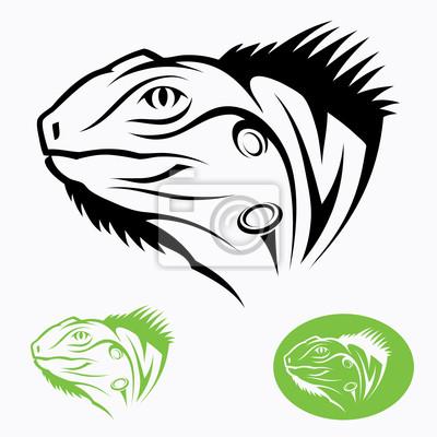 Iguana Kopf - Vektor-Illustration