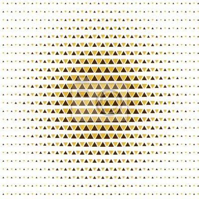 Illusion Mit Gelben Dreiecken Nahtlose Muster
