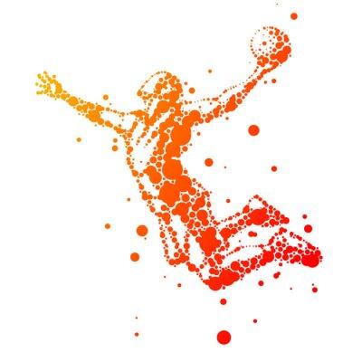 Bild Illustration der abstrakten Basketballspieler im Sprung