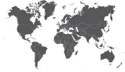 Bild Illustration einer farbigen Karte der Welt