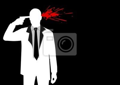 Illustration einer Figur Mann Dreharbeiten zu seinem Kopf