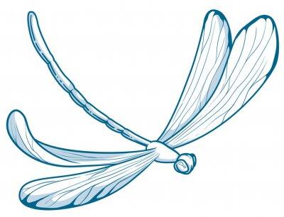 Bild illustration in vectors of a dragonfly
