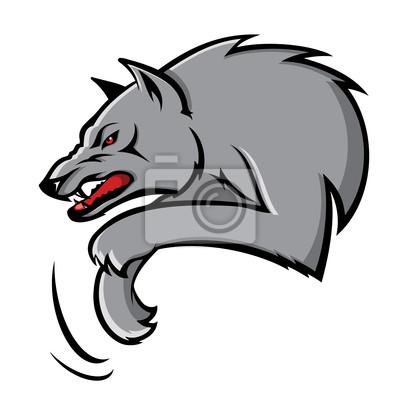 Illustration von Wolf