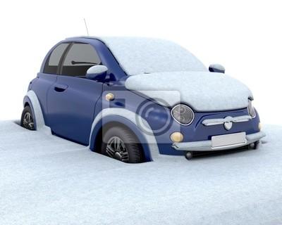 Im Schnee stecken