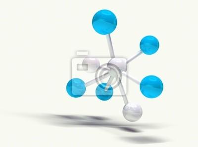 imagen 3d de estructura molekularen aislada en blanco