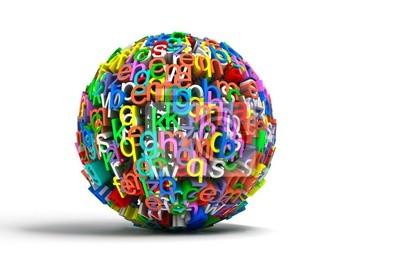 imagen konzeptionelle con bola de Letras de Colores