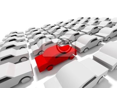 imagen konzeptionelle de parking con coches
