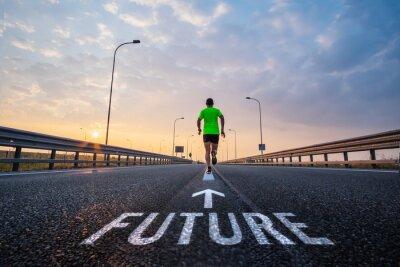 Bild In der Zukunft laufen