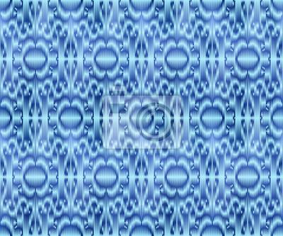 Indigo dyed textile seamless pattern. Repeatable ikat style background.