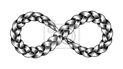 Bild Infinity symbol ribbon plait vector illustration