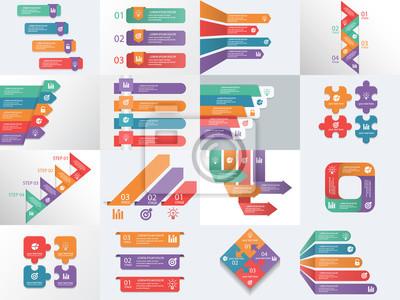 Info-grafik elemente prozess infografiken, workflow-diagramme ...