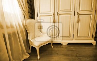 Bild: Innenansicht der luxus-vintage-schlafzimmer