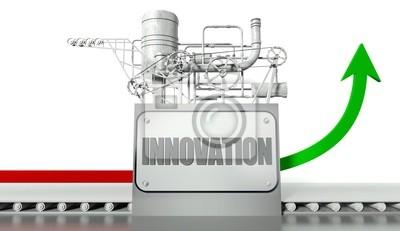 Bild Innovation Konzept mit Grafik und Maschine