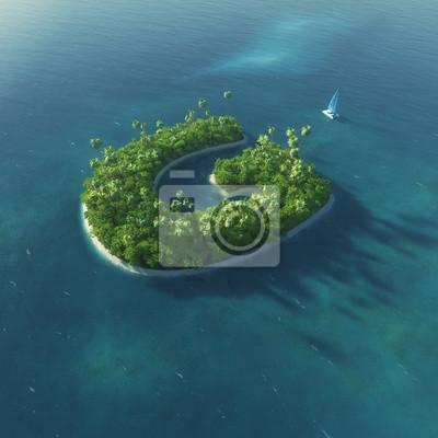Insel Alphabet. Paradise tropischen Insel in Form von Buchstaben G