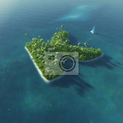 Insel Alphabet. Paradise tropischen Insel in Form von Buchstaben K