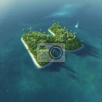Insel Alphabet. Paradise tropischen Insel in Form von Buchstaben N