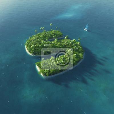 Insel Alphabet. Paradise tropischen Insel in Form von Buchstaben S