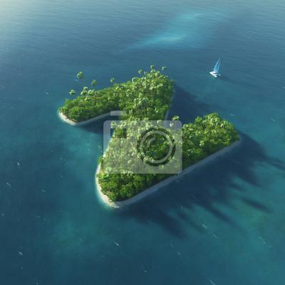 Insel Alphabet. Paradise tropischen Insel in Form von Buchstaben Z