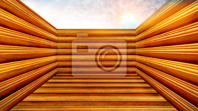 Bild Inside a wood box background.