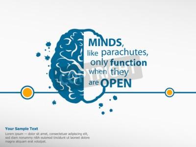 Bild Inspirierend Motivationszitat auf Gehirn Hintergrund