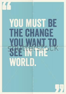 Bild Inspirierend motivierende Zitate von Mahatma Gandhi, auf Plakathintergrund.