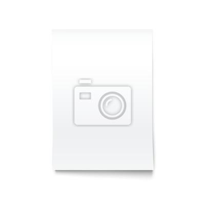 Isoliert auf Weiß Blank Office Paper Mock-Up.