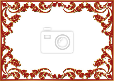 Bild Isoliert floral frame