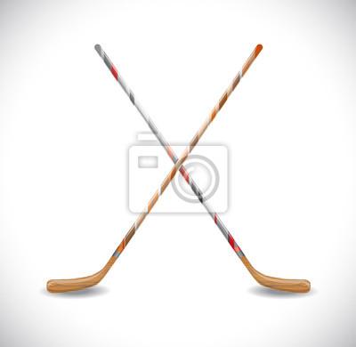 Isoliert Hockeyschläger. Abbildung 10 Version