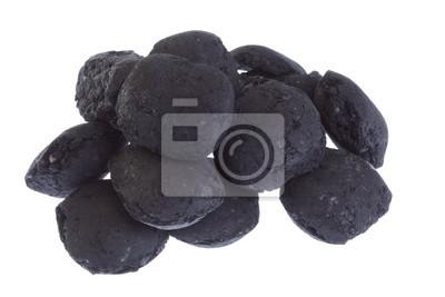 Bild isoliert Kohle, Kohlenstoff-Nuggets