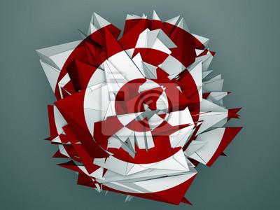 Bild Isoliert roten weißen abstrakten Objekt