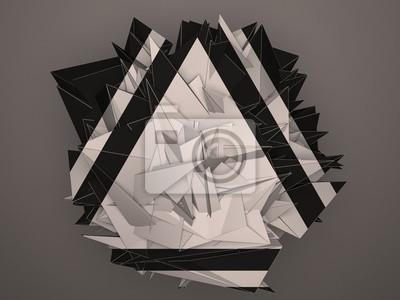 Bild Isoliert schwarz weiß abstraktes Objekt