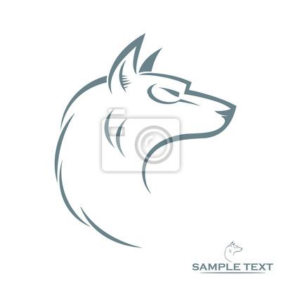 Isoliert Wolfskopf - Vektor-Illustration