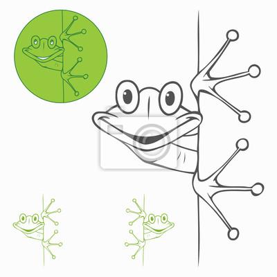 Isolierte Frosch Etikett