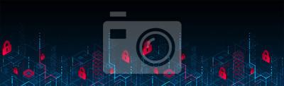 Bild  Isometric digital padlock. Abstract technology background. Vector illustration
