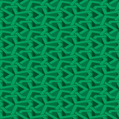 Bild Isometric seamless pattern. Abstract illusory endless ornament texture. Fashion geometric background for web or printing design. Swatch is attached.