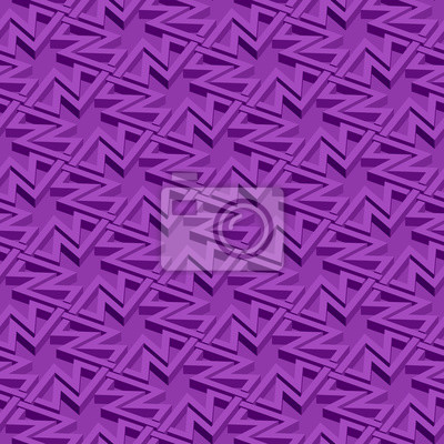 Bild Isometric seamless pattern. Abstract illusory endless ornament texture. Fashion three dimensional background for web or printing design. Swatch is attached.
