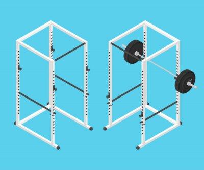 Bild Isometrische Gym Power Rack und Langhantel