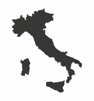 Bild Italien-Karte isoliert Silhouette