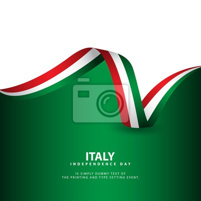 Bild Italy Independence Day Vector Template Design Illustration