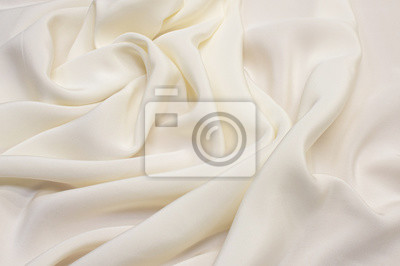 Bild Ivory silk fabric texture. Background, pattern.