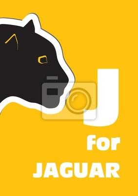 J für das Jaguar, ein Tier-Alphabet für Kinder