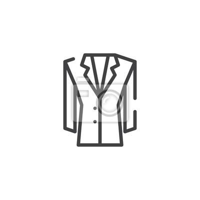 Jacke linie symbol, skizzieren vektor zeichen, lineare stil piktogramm Bilder myloview