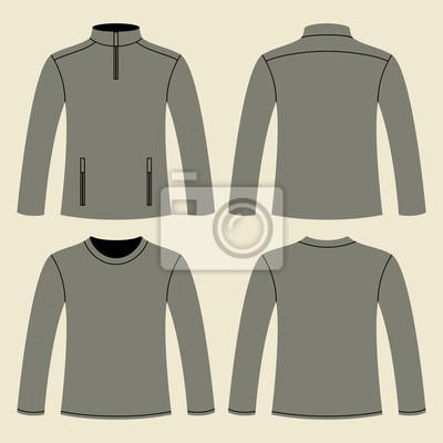 Jacket And Long Sleeved T Shirt Template Leinwandbilder Bilder
