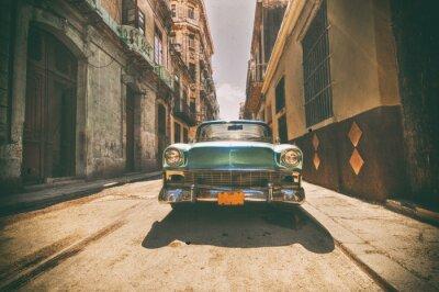 Bild Jahrgang Auto in der Havanna Straße geparkt