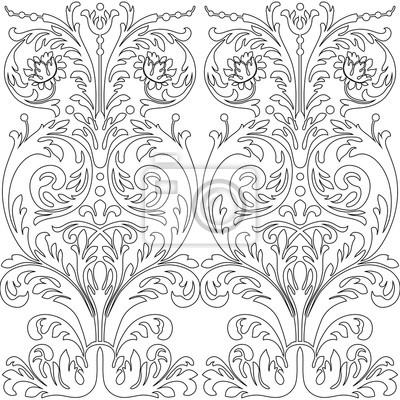 Jahrgang Barock Rahmen Schriftrolle Ornament Gravur Rand Floral