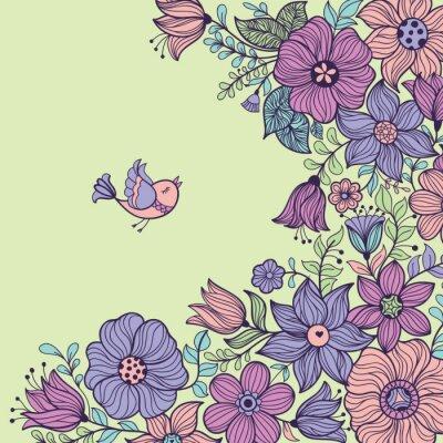 Bild Jahrgang floral nahtlose Muster. Abbildung.